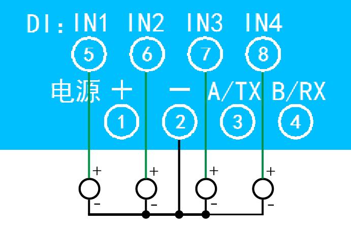 有源输入接线示意图