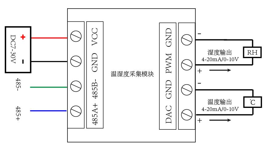 ws2-ars-c温湿度采集模块