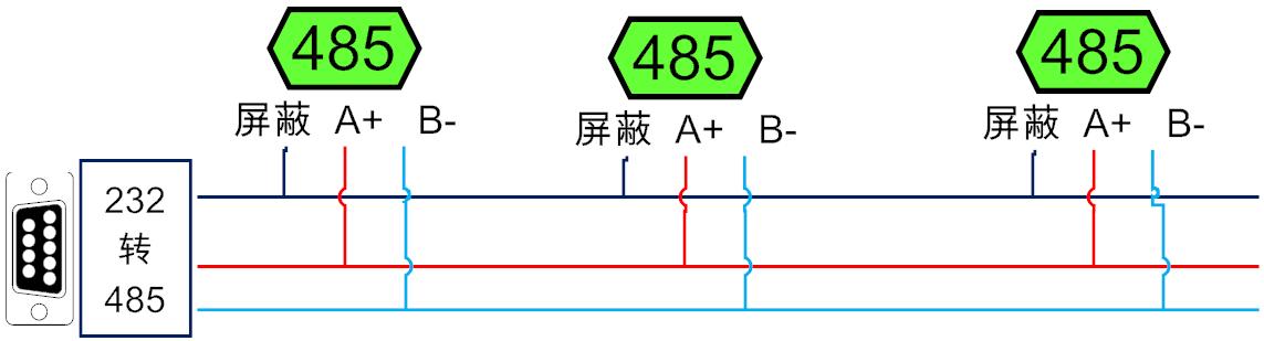 rs485接线示意图