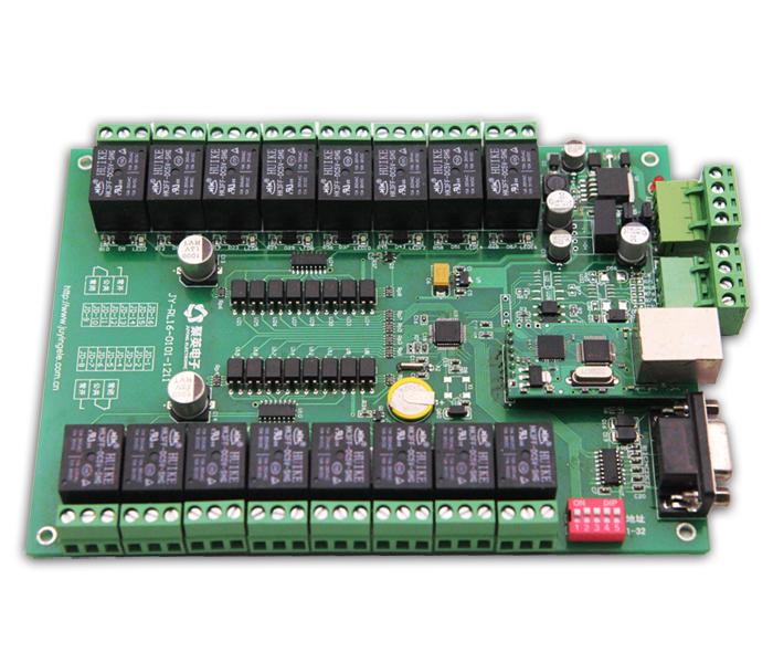 将产品通过串口与计算机连接,通过拨码开关设定地址(1-32),在设备地址一栏输入相对应的数值,选择正确串口及串口波特率,点击打开串口,设备即可正常通信。用户点击需要控制的某一路继电器开关,即可控制相应继电器的开闭。按钮旁边的指示灯表示当前继电器状态,常开触点闭合即亮红灯,否则为灰色。