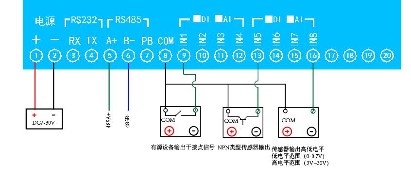 8路继电器控制板 dam0808(usb版)